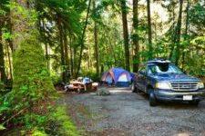 Camping at McLean Mill