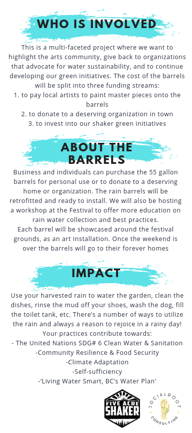 Five Acre Shaker Rainbow Project Information