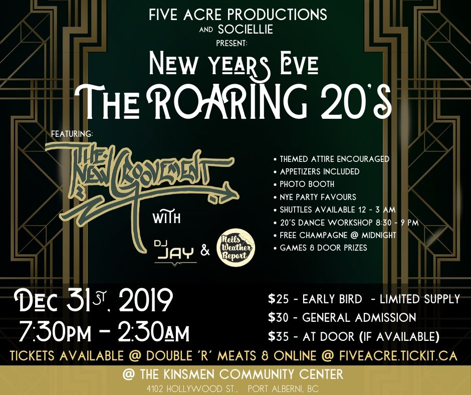 Roaring 20's New year's Eve Poster